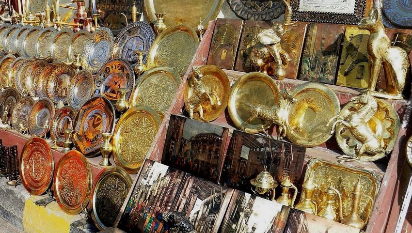 Рынок сувениров в Хургаде.